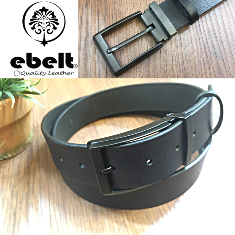 ebelt 印度製 頭層水牛皮皮帶 BUFFALO FULL GRAIN LEATHER BELT 3.4cm- ebc0322