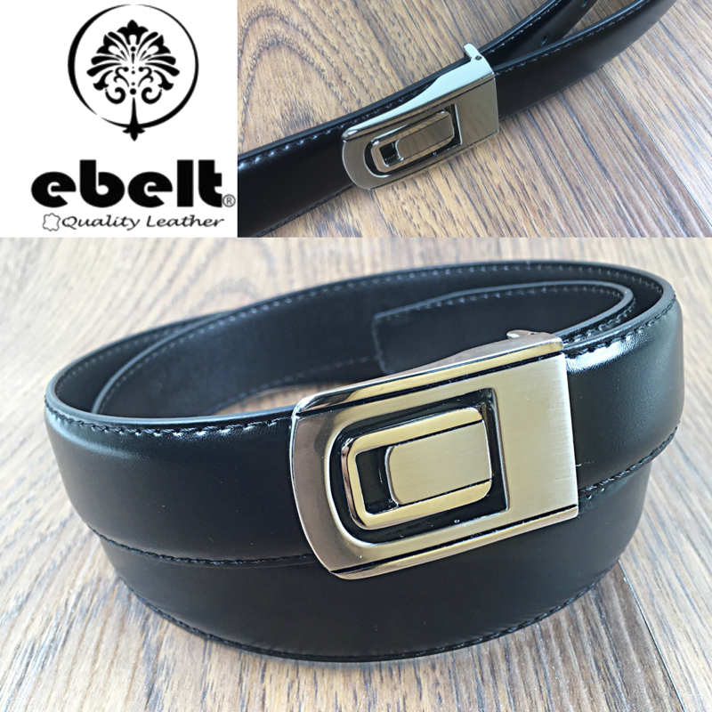 [香港品牌 EBELT] 光面牛皮皮帶/學生皮帶 Cow Split Leather Belt / Dress Belt / Uniform Belt 3cm - ebm039