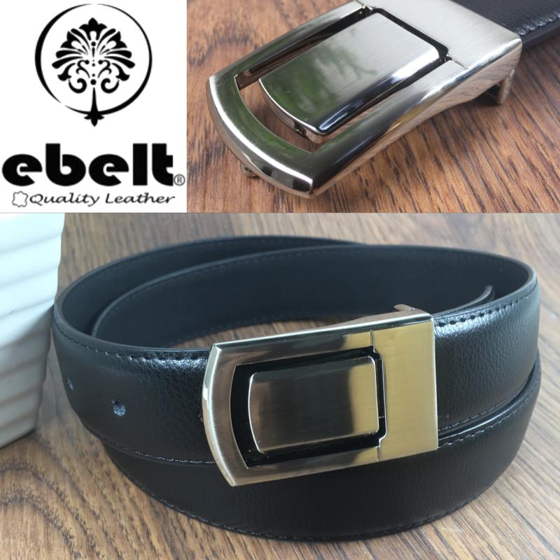 [香港品牌 EBELT] 光面牛皮皮帶 / 正裝皮帶 Cow Split Leather Dress Belt 3.3 cm - ebm0124M