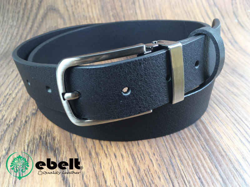 [香港品牌 EBELT] 頭層水牛皮真皮皮帶 BUFFALO FULL GRAIN LEATHER BELT 2.9cm- ebc0320B