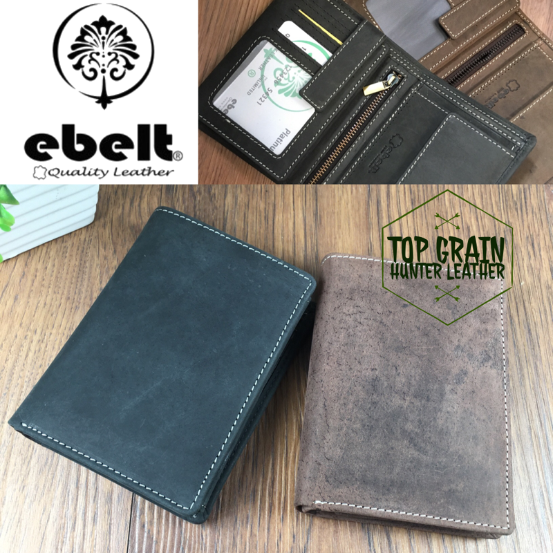 ebelt 印度製 頭層水牛獵人皮銀包 Full Grain Buffalo Hunter Series Leather Wallet - WM0117