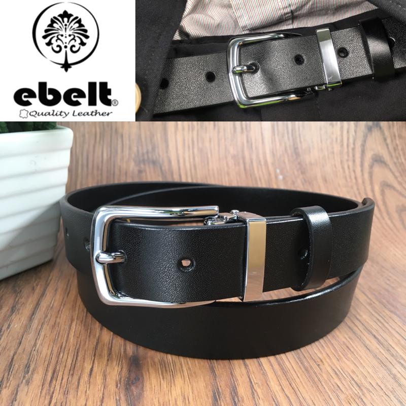 [香港品牌 EBELT] 不夾層光面牛皮皮帶 PATENT SPLIT LEATHER BELT 2.9cm- ebc0316G