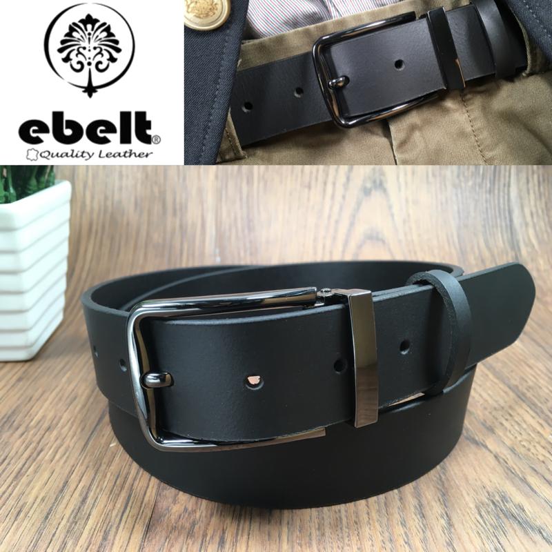 [香港品牌 EBELT] 男裝皮帶 -頭層水牛皮真皮皮帶 BUFFALO LEATHER BELT 3.4cm- ebc0323A