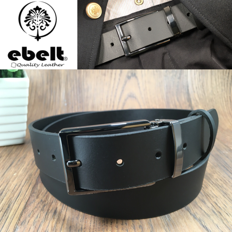 [香港品牌 EBELT] 男裝皮帶 -頭層水牛皮真皮皮帶 BUFFALO LEATHER BELT 3.4cm- ebc0323B