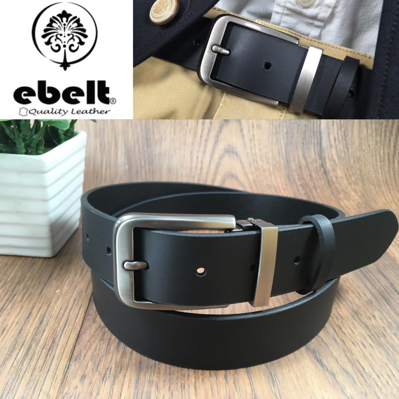 [香港品牌 EBELT] 男裝皮帶 -頭層水牛皮真皮皮帶 BUFFALO LEATHER BELT 3.4cm- ebc0323C