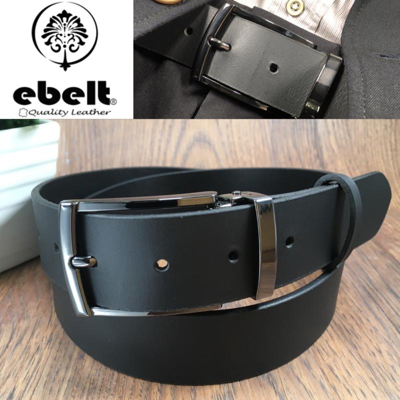 [香港品牌 EBELT] 男裝皮帶 -頭層水牛皮真皮皮帶 BUFFALO LEATHER BELT 3.4cm- ebc0323E