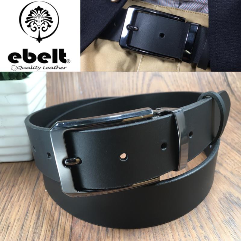 [香港品牌 EBELT] 男裝皮帶 -頭層水牛皮真皮皮帶 BUFFALO LEATHER BELT 3.4cm- ebc0323F