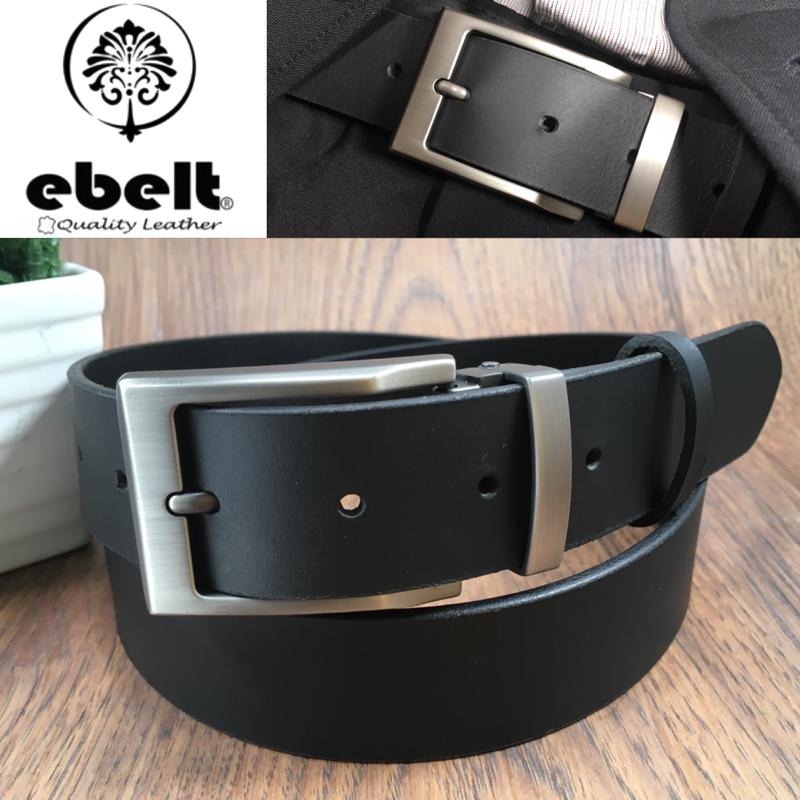 [香港品牌 EBELT] 男裝皮帶 -頭層水牛皮真皮皮帶 BUFFALO LEATHER BELT 3.4cm- ebc0323G
