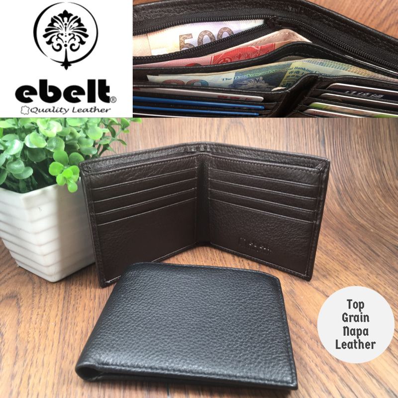 [香港品牌 EBELT] 頭層軟牛皮真皮銀包 皮夾錢包 Full Grain Cow Napa Leather Wallet - WM0128