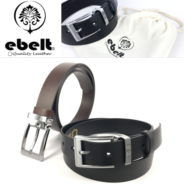 [香港品牌 EBELT]意大利頭層牛皮真皮皮帶 Full Grain Italian Cow Leather Belt 2.9cm - ebc0326