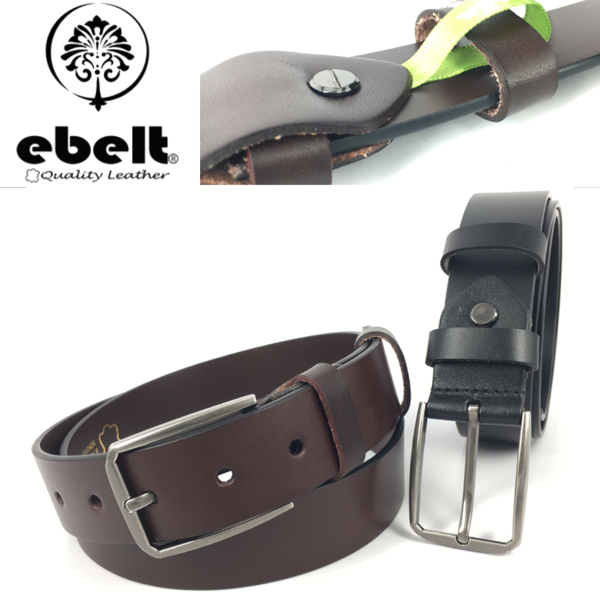 ebelt 意大利頭層牛皮皮帶 Full Grain Italian Cow Leather Belt 3.4cm - ebc0329