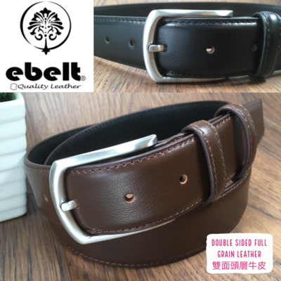 ebelt 男裝高級頭層牛皮皮帶 3.4cm Top Grade Cow Full Grain Leather Belt - ebm0165