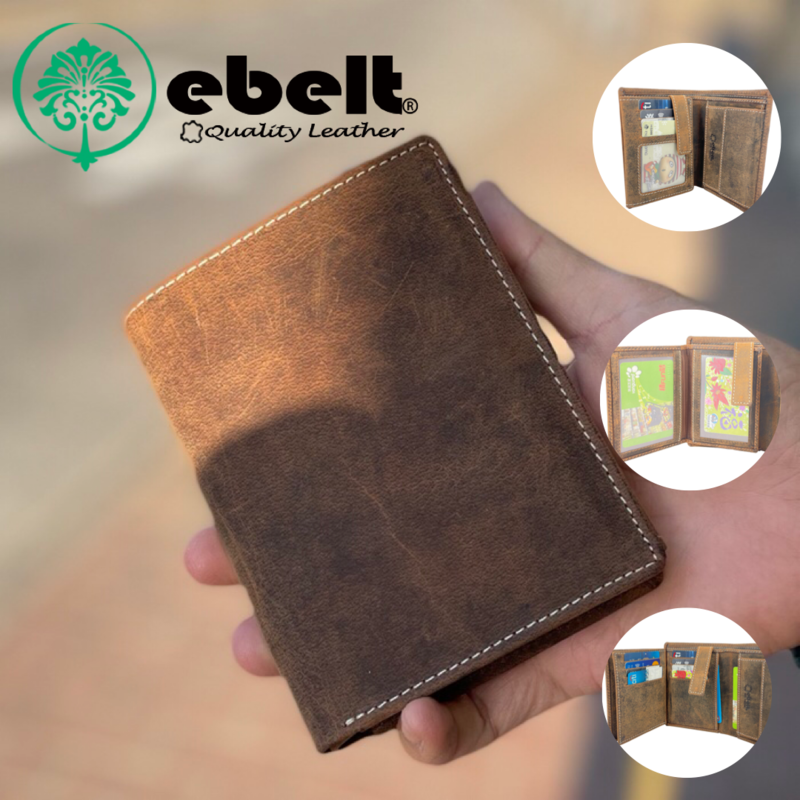 [香港品牌 EBELT] 印度製 頭層水牛獵人皮真皮銀包 皮夾錢包 Full Grain Buffalo Hunter Series Leather Wallet - WM0137