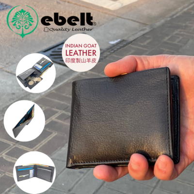 ebelt 印度製 頭層山羊皮銀包 - 散銀包型 India Full Grain Goat Leather Wallet Coins Bag Type - WM0123