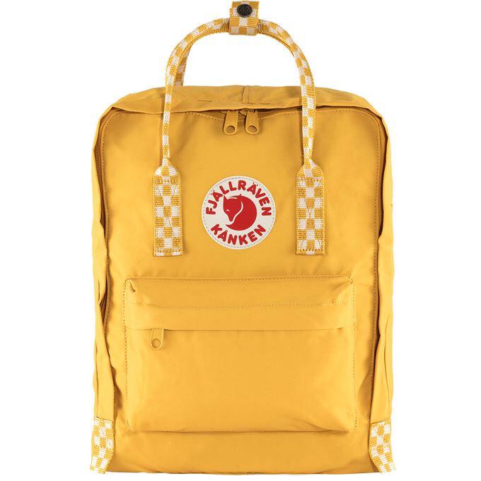 Fjallraven Kanken 狐狸袋 背囊 書包戶外背包 School bag outdoor backpack 16L - Ochre / Chess Pattern