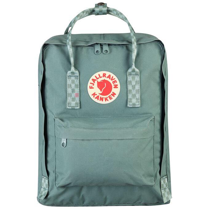 Fjallraven Kanken 狐狸袋 背囊 書包戶外背包 School bag outdoor backpack 16L - Frost Green / Chess Pattern