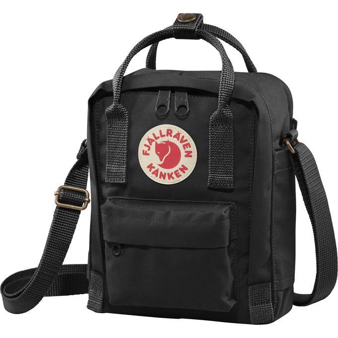 Fjallraven Kanken [狐狸袋] 斜孭袋Sling Cross Shoulder Bag - Black