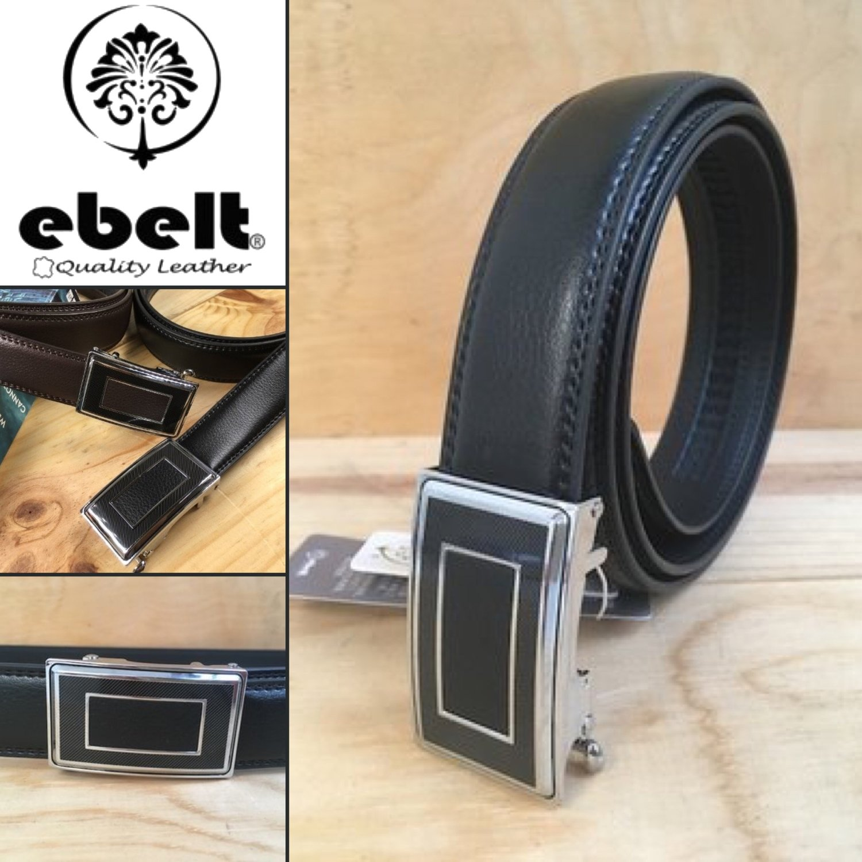 ebelt 自動扣光面牛皮皮帶 Autolocked buckle Cow Split leather belt 3.2cm - ebm0133