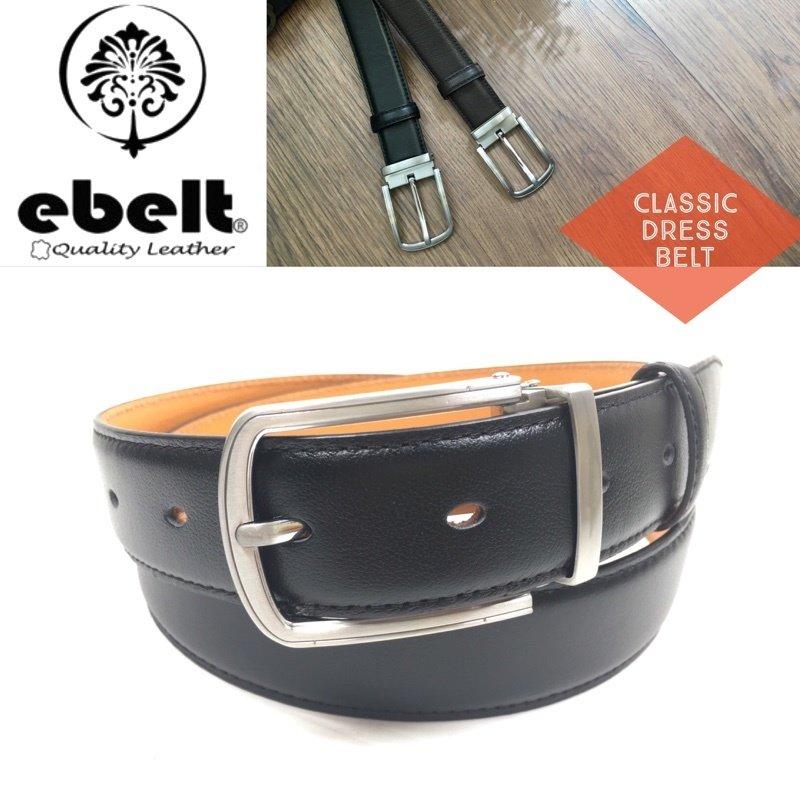 [香港品牌 EBELT] 男裝高級頭層牛皮真皮皮帶 Top Grade Full Grain Cow Leather Belt 3.4cm