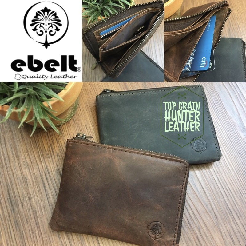 ebelt 印度製 頭層水牛獵人皮卡片套銀包 Full Grain Buffalo Hunter Series Leather Card Wallet - WM0111