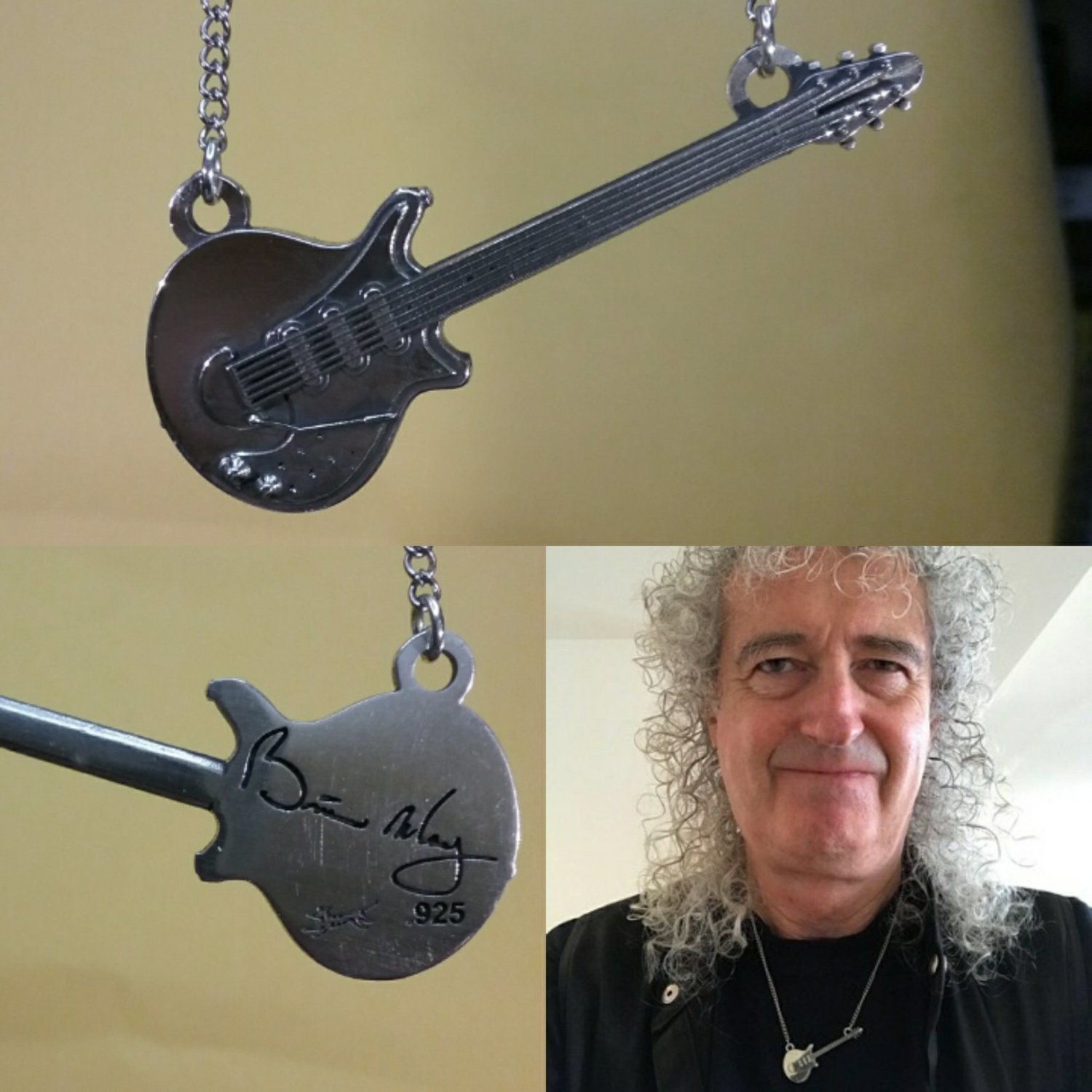 "Brian May's ""Red Special"" Guitar pendant large Horizontal"