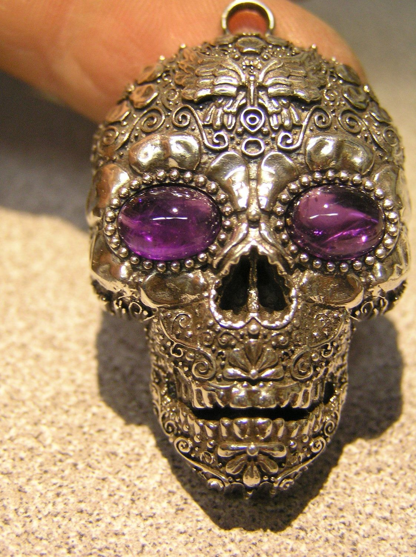 Skull Pendant With Gemstone
