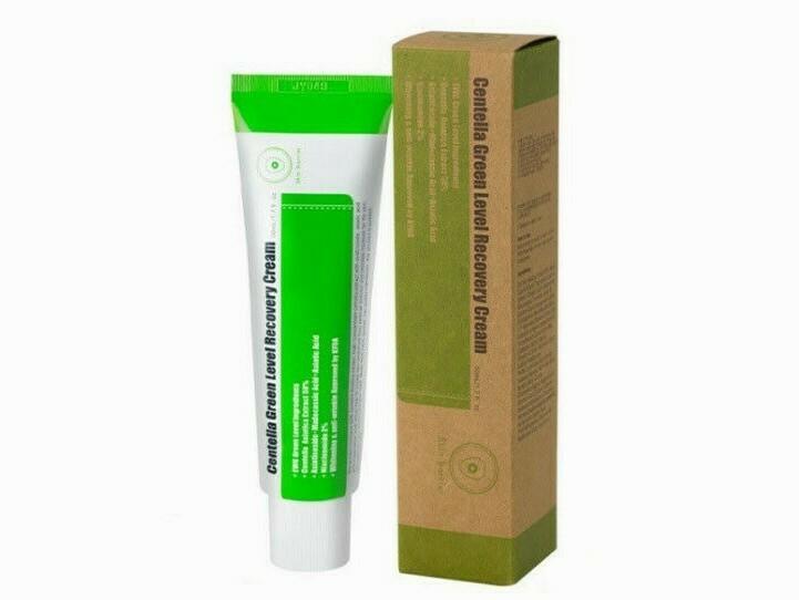 Успокаивающий крем для восстановления кожи с центеллой PURITO Centella Green Level Recovery Cream, 50 ml.