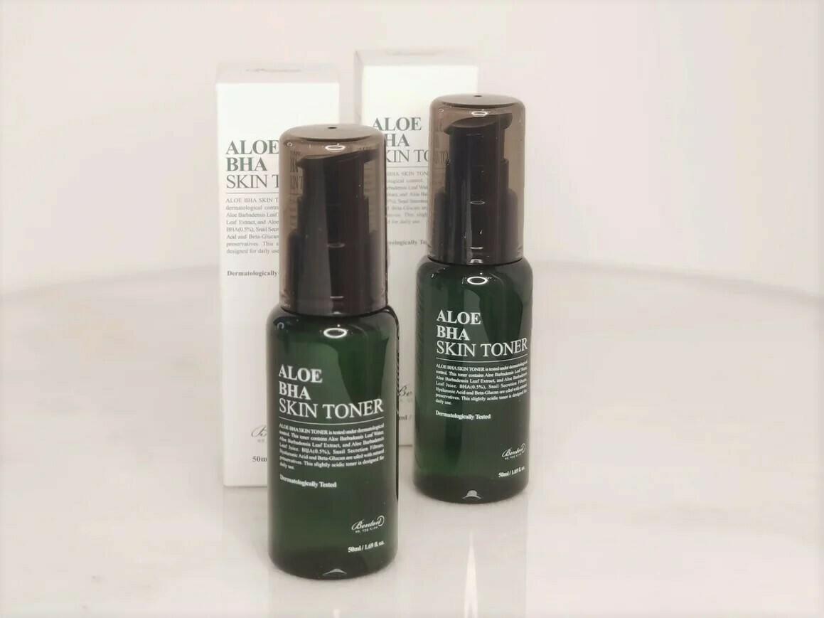 Тонер для лица с алоэ и BHA кислотой Benton Aloe BHA Skin Toner, 50 ml.