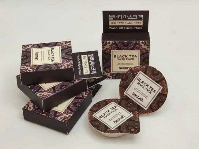 Освежающая маска с черным чаем Heimish black tea mask pack, миниатюра блистер 7 ml.