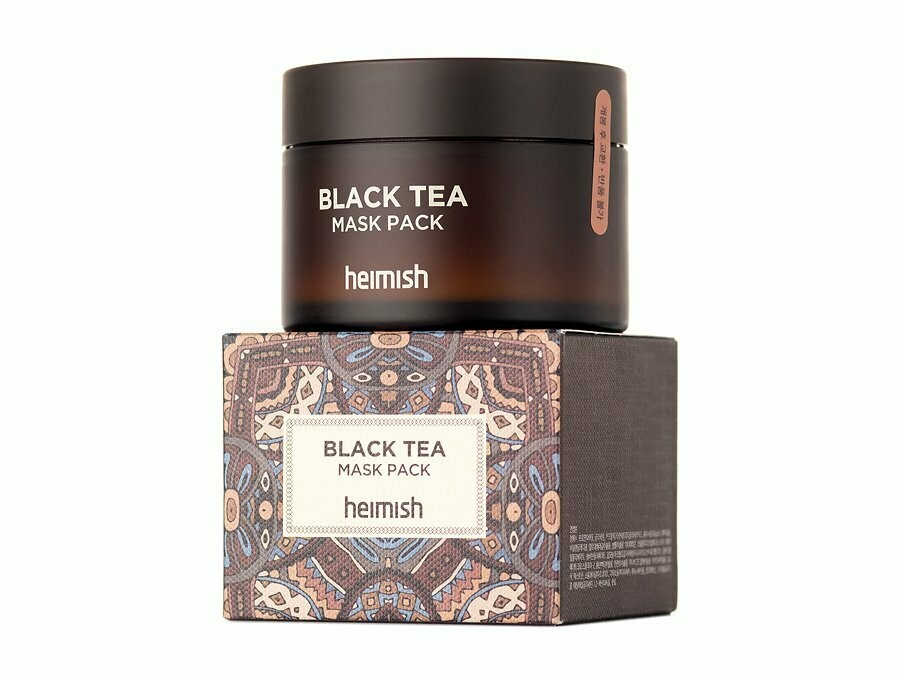 Освежающая маска с черным чаем Heimish black tea mask pack,110 ml.