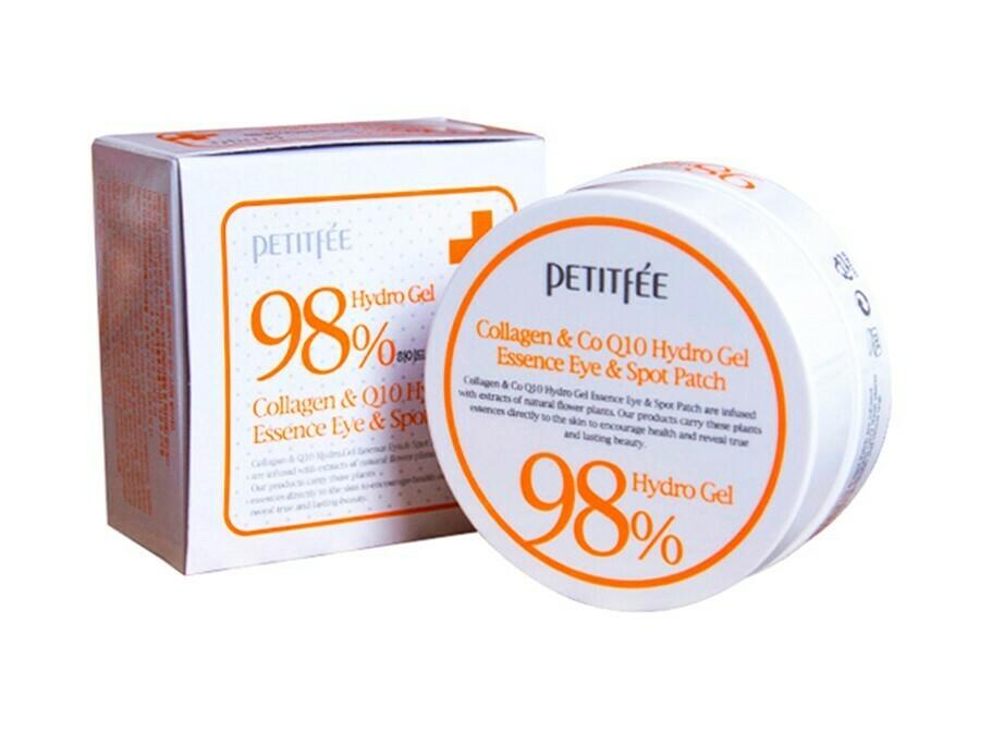 Гидрогелевые патчи с коллагеном Petitfee Collagen&CoQ10 Hydrogel Eye Patch, 60 шт