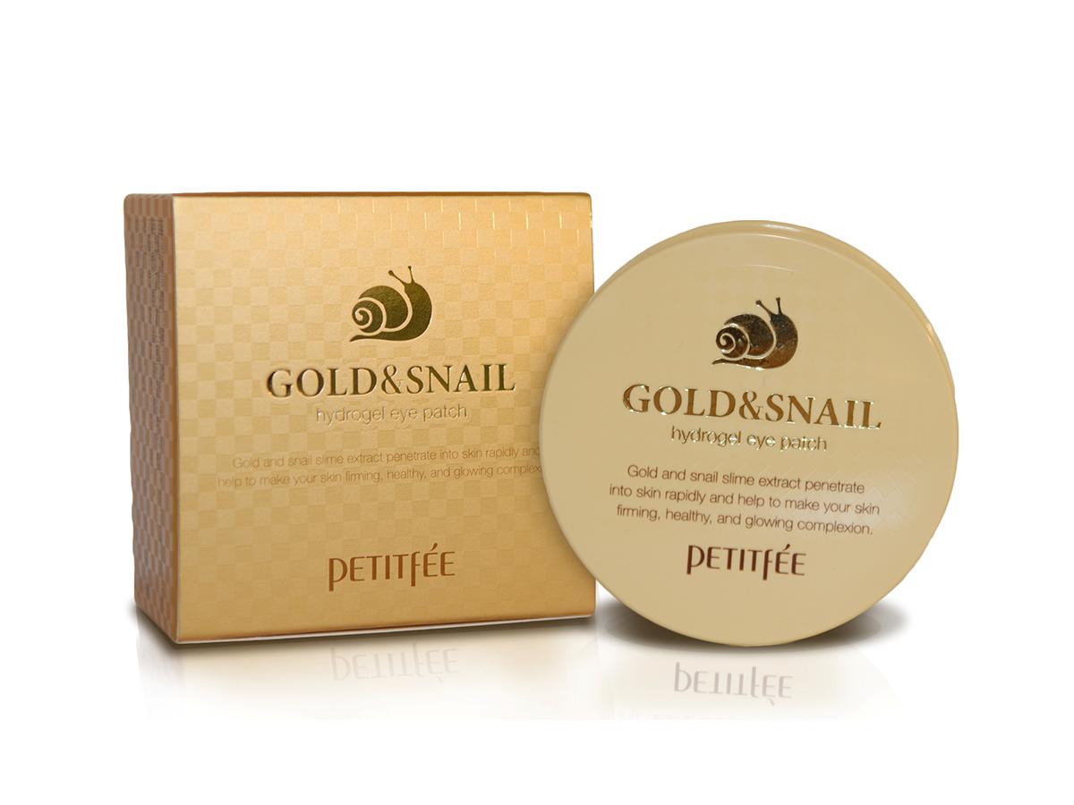 Гидрогелевые регенерирующие патчи для век с муцином улитки Petitfee Hydro Gel Eye Patch Gold & Snail, 60 шт