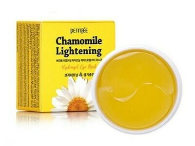 Гидрогелевые осветляющие патчи с экстрактом ромашки Petitfee Chamomile Lightening Hydrogel Eye Mask,  60 шт