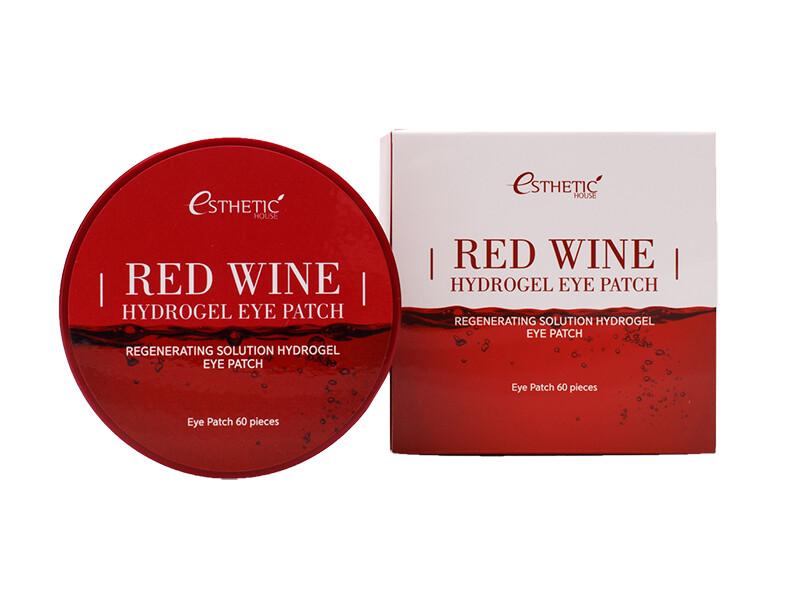 Гидрогелевые патчи с экстрактом красного вина Esthetic House Red Wine Hydrogel Eye Patch, 60 шт