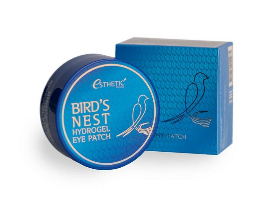 Гидрогелевые патчи с экстрактом ласточкиного гнезда Esthetic House Birds Nest Hydrogel Eye Patch, 60 шт