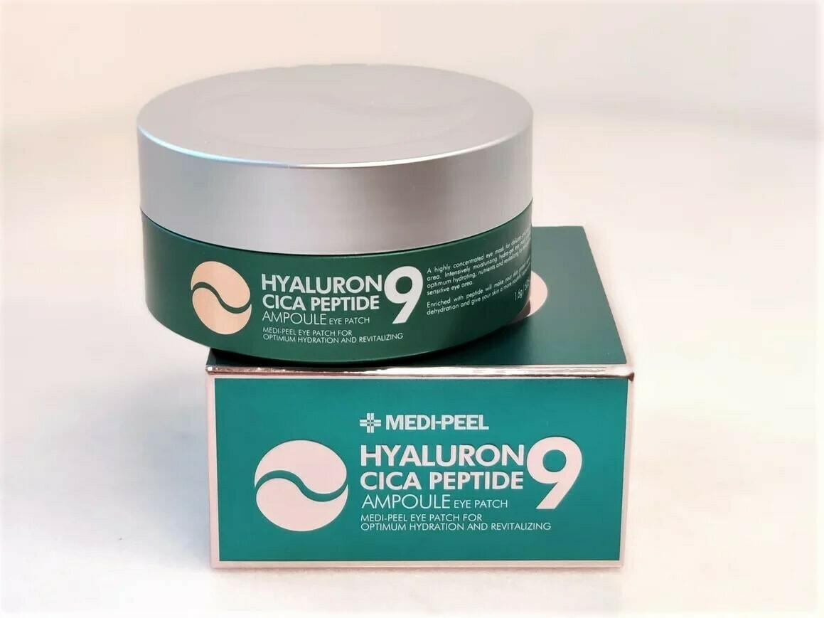 Успокаивающие гидрогелевые патчи с пептидами MEDI-PEEL Hyaluron Cica Peptide 9 Ampoule Eye Patch, 60 шт.