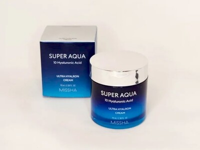Увлажняющий крем для лица MISSHA Super Aqua Ultra Hyalron Cream, 70 мл