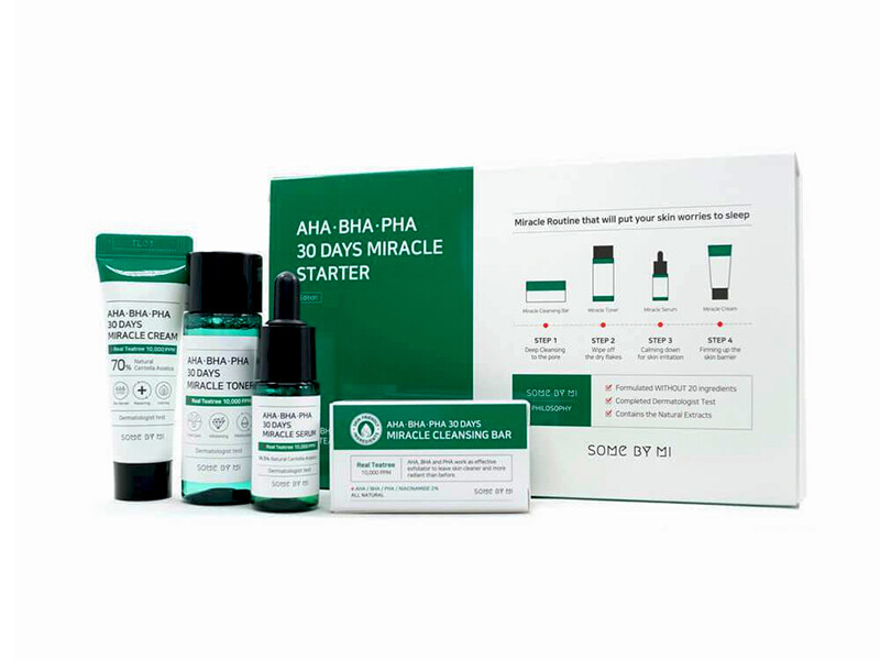 Набор для проблемной кожи с кислотами Some By Mi AHA-BHA-PHA 30 Days Miracle Starter Kit Edition, 4 средства