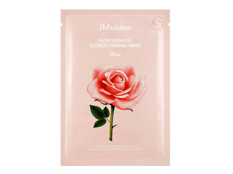 Тканевая маска для сияния с розой JMsolution Glow Luminous Flower Firming Mask, 30 мл
