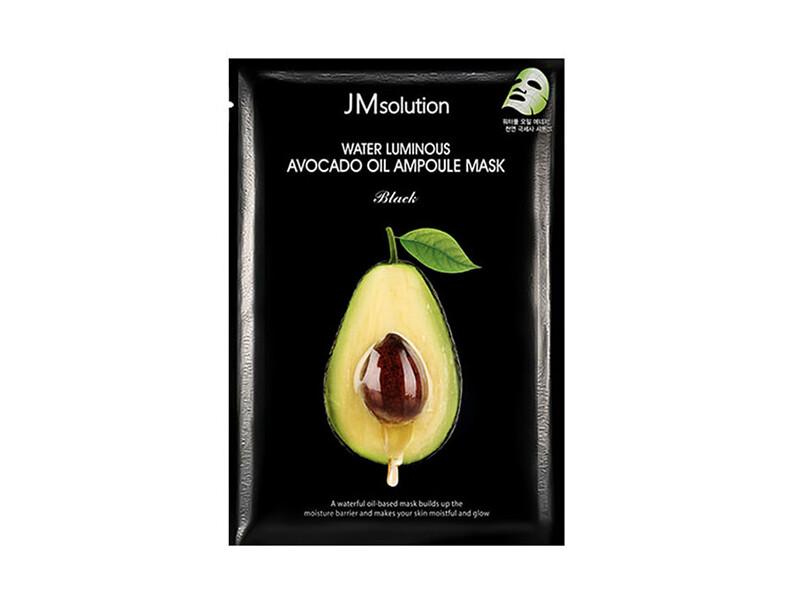 Тканевая питательная маска с авокадо JMsolution Water Luminous Avocado Oil Ampoule Mask, 30 мл