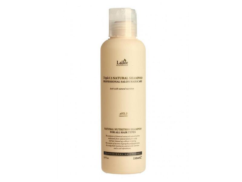Безсульфатный органический шампунь с эфирными маслами Lador Triplex Natural Shampoo, 150 мл
