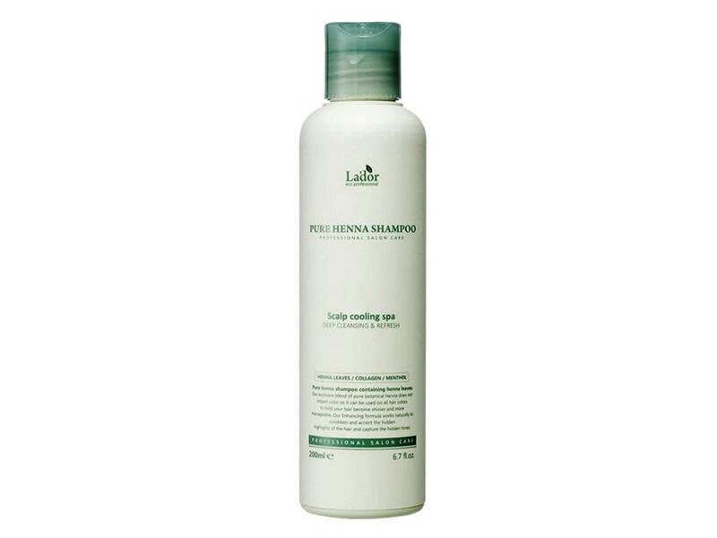 Освежающий шампунь с хной и ментолом Lador Pure Henna Shampoo, 200 мл