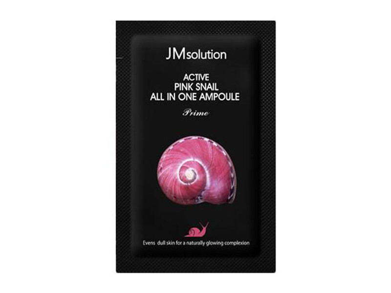 Тканевая регенерирующая маска с муцином улитки JMsolution Active Pink Snail Brightening Mask Prime, 30 мл