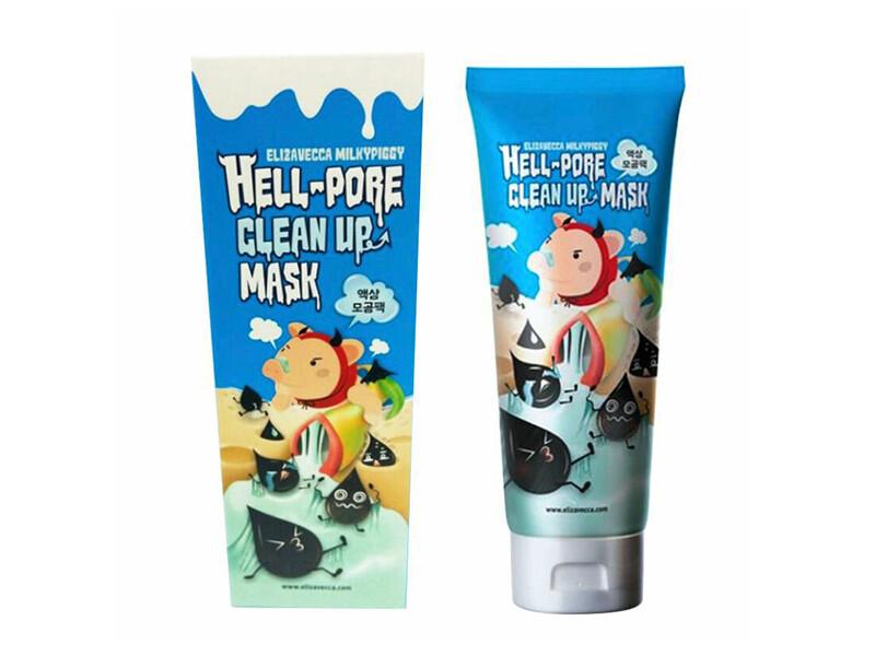 Маска-пленка с древесным углем Elizavecca Milky Piggy Hell-Pore Clean Up Mask, 100 мл
