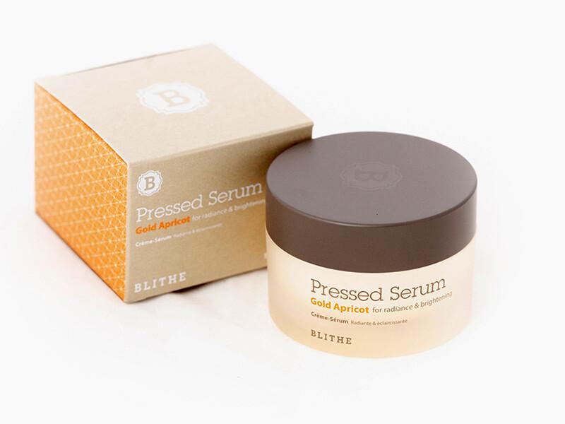 Спрессованная крем-сыворотка для сияния кожи Blithe Pressed Serum Gold Apricot, 20/50 мл
