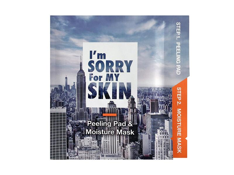 Набор для очищения и увлажнения кожи лица I'm Sorry For My Skin Peeling Pad & Moisture Mask, 22мл