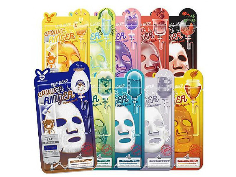 Тканевые маски Elizavecca Deep Power Ringer Mask Pack, 23 мл
