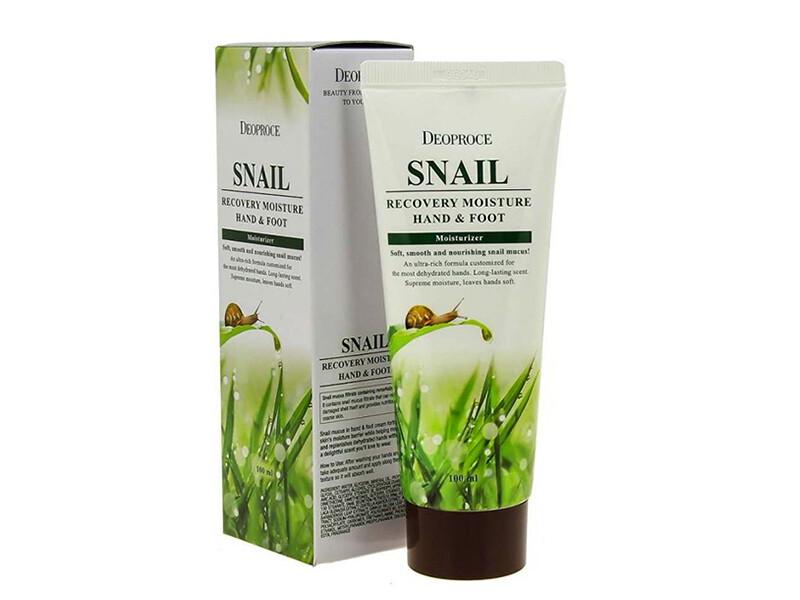 Крем для ног и рук с муцином улитки Deoproce Hand & Foot Snail Recovery Moisturizer, 100 мл
