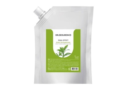 Моделирующая маска с зеленым чаем Dr.Seolreim Dual Effect Green Tea Hyaluronic Milky Cream Modeling Pack, 1 кг