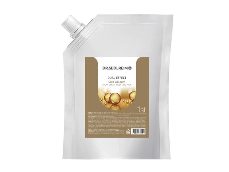 Моделирующая альгинатная маска с коллагеном Dr.Seolreim Dual Effect Gold Collagen Milky Cream Modeling Pack, 1 кг